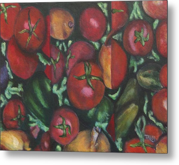 Jersey Tomatoes With A Dash Of Abstract Metal Print