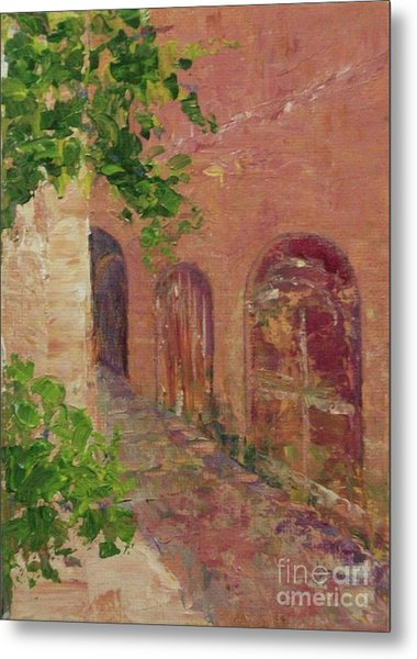 Jerusalem Alleyway Metal Print