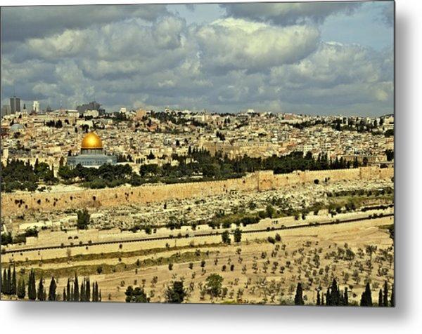 Jerusalem Awaits Her King II Metal Print by Deb Cohen