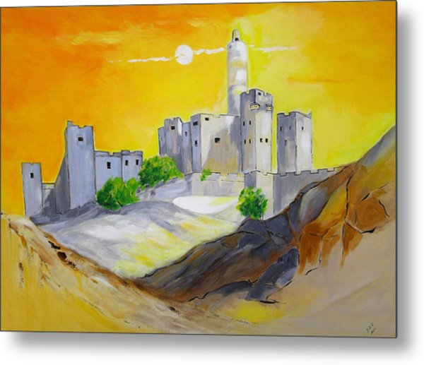 Jerusalem City Of Gold Metal Print