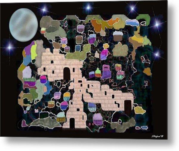 Jerusalem Moon Metal Print by Sher Magins