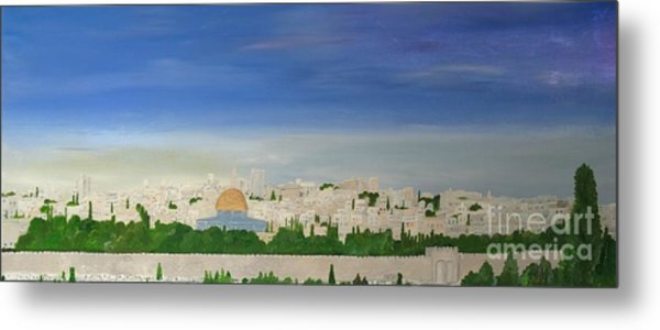 Jerusalem Skyline Metal Print