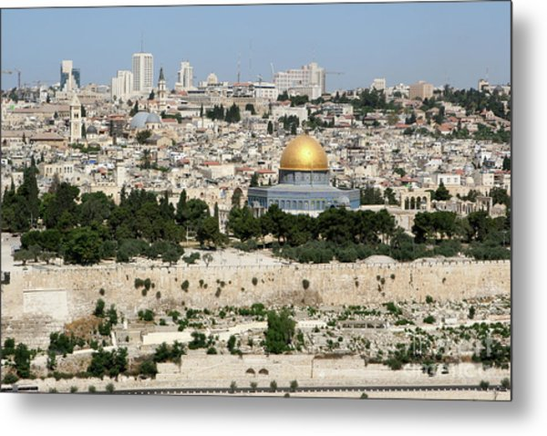 Metal Print featuring the photograph Jerusalem Skyline by Steven Frame