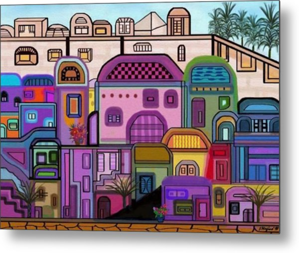 Jerusalem Tapestry Metal Print by Sher Magins