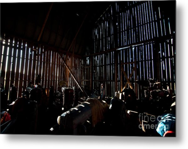 Jesse's In The Barn Metal Print