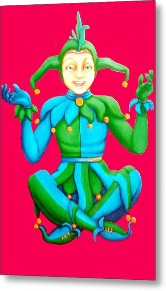 Jester Metal Print by Barbara Stirrup