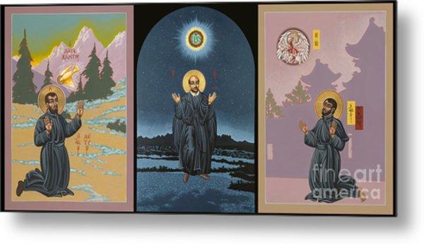 Jesuit Triptych-st Peter Faber-st Ignatius-st Francis Xavier Metal Print