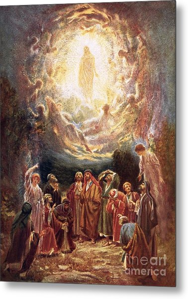 Jesus Ascending Into Heaven Metal Print