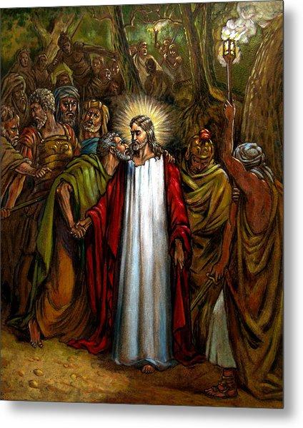 Jesus Betrayed Metal Print