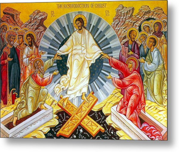 Jesus Bliss Metal Print