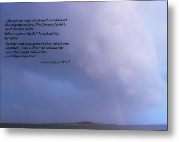 Jesus Calms The Storm Metal Print