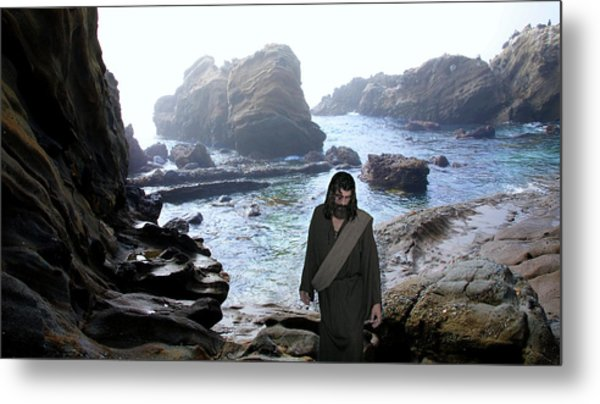Jesus Christ- Be Not Dismayed For I Am Your God Metal Print
