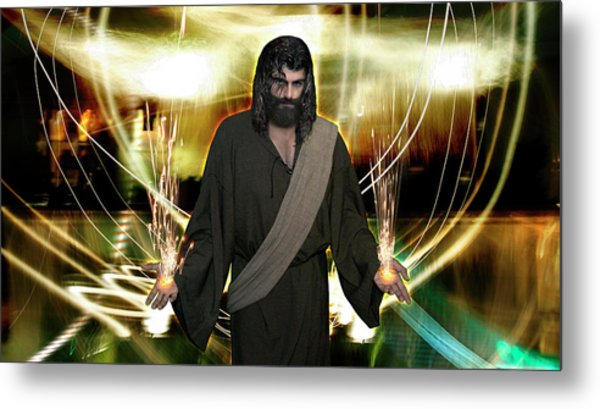 Jesus Christ- God Shines In Glorious Radiance Metal Print