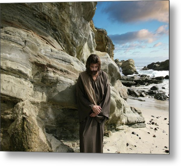 Jesus Christ- I Have Heard Your Prayer And Seen Your Tears I Will Heal You Metal Print