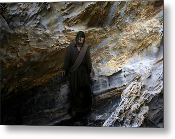 Jesus Christ- The Lord Is My Light And My Salvation Metal Print