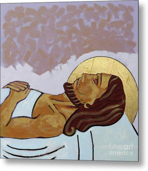 Jesus Is Laid In The Tomb Metal Print