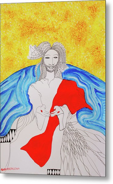 Jesus Messiah Second Coming Metal Print