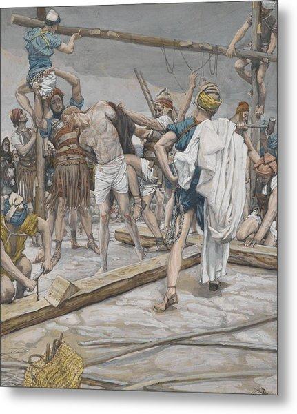 Jesus Stripped Of His Clothing Metal Print