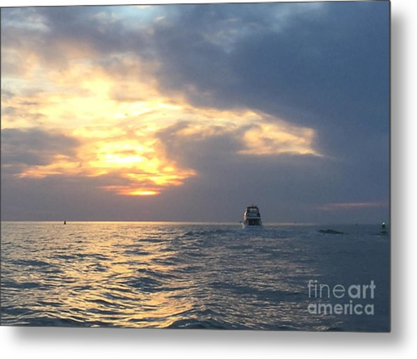 Watching Over The Inlet Metal Print