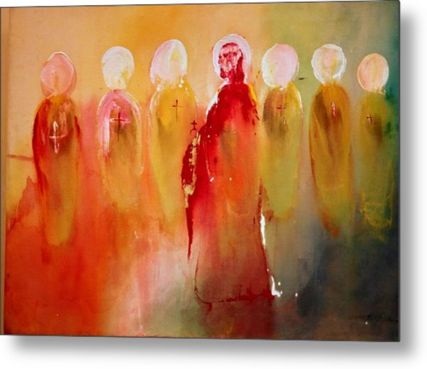 Jesus With His Apostles Metal Print