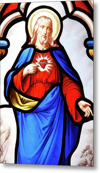 Jesus's Sacred Heart Metal Print