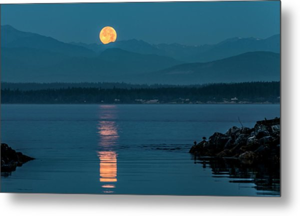 Jetty Moonbeam Metal Print