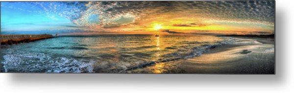Jetty Sunrise Panorama Metal Print