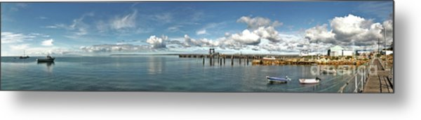 Metal Print featuring the photograph Jetty To Shore by Stephen Mitchell
