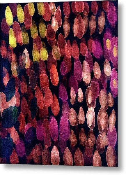 Jewel Drops- Abstract Art By Linda Woods Metal Print