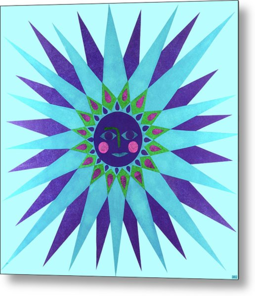 Jeweled Sun Metal Print