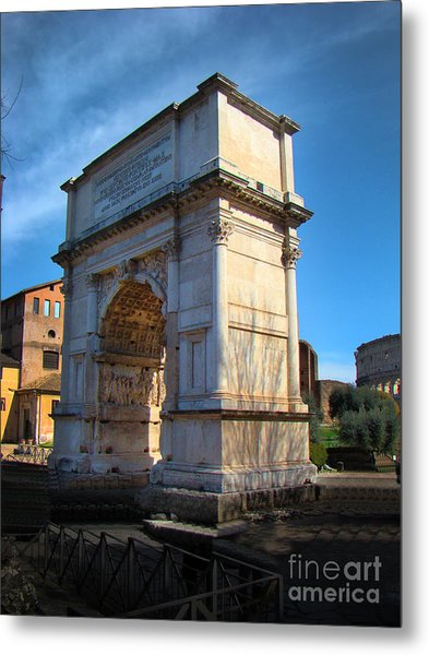 Jewish Arch - Arch Of Titus - Rome - Italy Metal Print