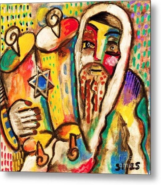 Jewish Celebrations Rejoicing In The Torah Metal Print