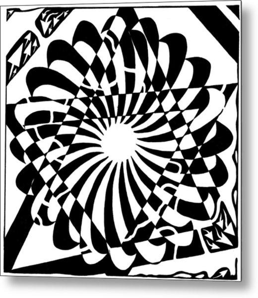 Jewish Pride Maze  Metal Print by Yonatan Frimer Maze Artist