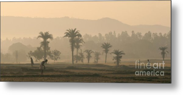 Jharkhand Early Morning Metal Print by Angie Bechanan