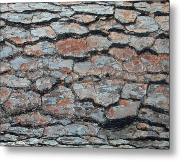 Jigsaw - Pine Tree Bark Metal Print