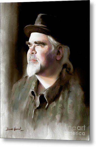 Metal Print featuring the digital art Mr. Hermanson by Dwayne Glapion