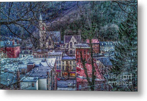 Jim Thorpe Pennsylvania In Winter #1 Metal Print