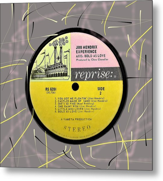 Jimi Hendrix - Axis Bold As Love Lp Label Metal Print