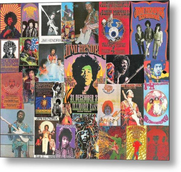 Jimi Hendrix Collage 1 Metal Print
