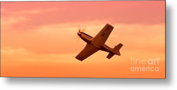 Jimmy Leeward And The Galloping Ghost Into The Sunset Metal Print