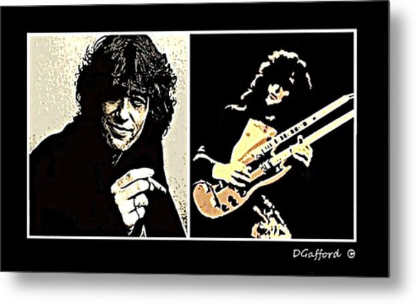 Jimmy Page Metal Print by Dave Gafford