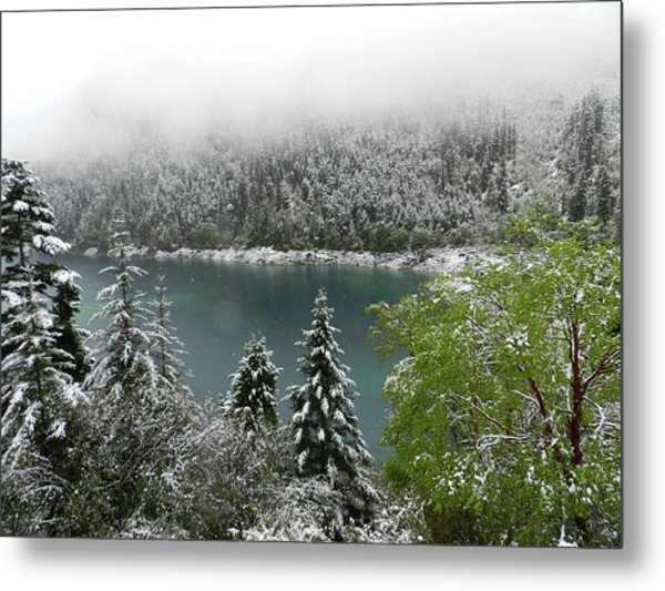 Jiuzhaigou National Park, China Metal Print