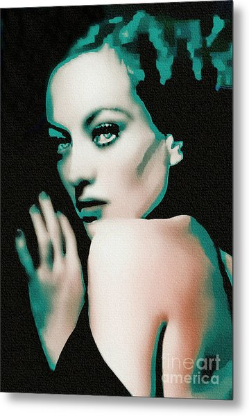 Joan Crawford - Pop Art Metal Print