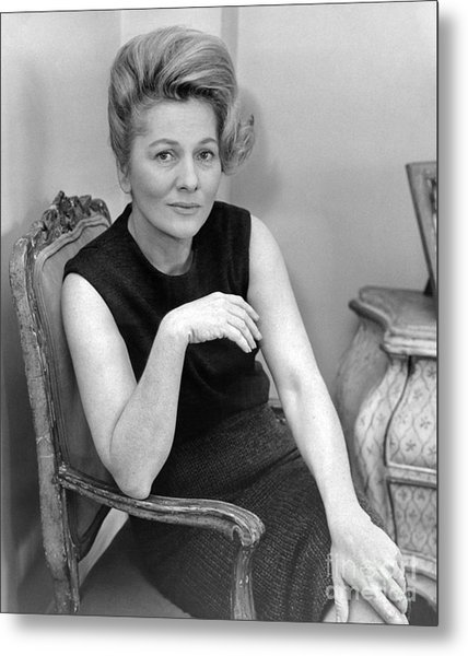 Joan Fontaine Heads Cast Of The Unexpected Guest, An Agatha Christie Mystery For Broadway. 1962 Metal Print by William Jacobellis