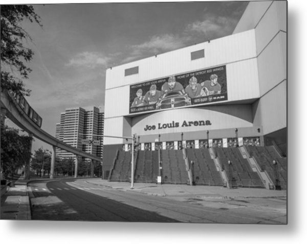 Joe Louis Arena Black And White  Metal Print