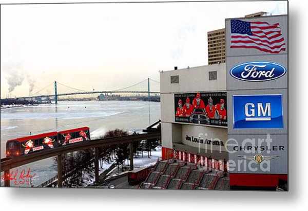 Joe Louis Arena Metal Print