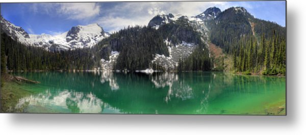 Joffre Lake Middle Panorama B.c Canada Metal Print by Pierre Leclerc Photography