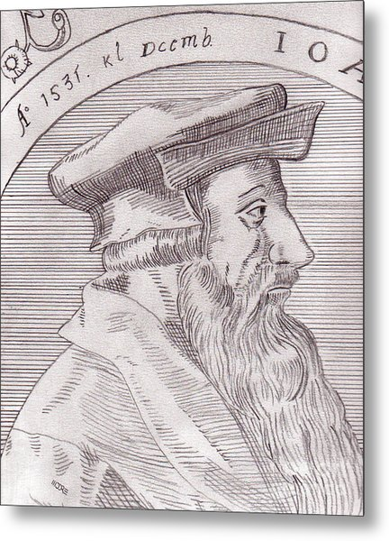 Johannes Oecolampadius Metal Print