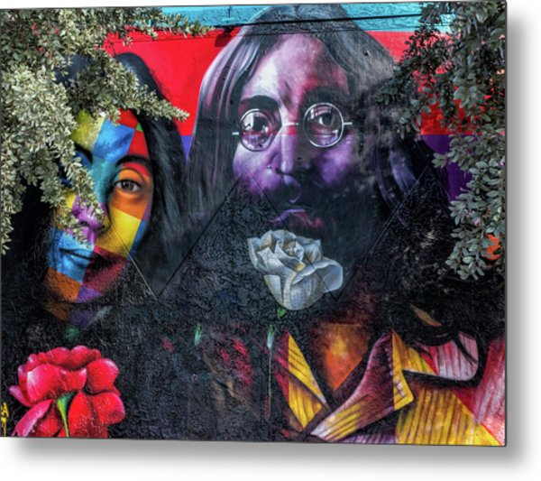 John And Yoko Metal Print