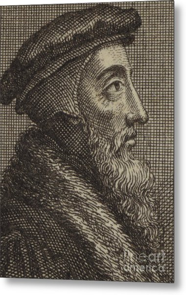 John Calvin, French Theologian And Pastor Of The Protestant Reformation  Metal Print